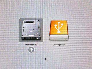 ブートするOSを選択する画面