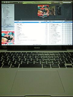 フルスクリーンのiTunesで音楽再生