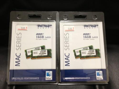 iMac 向けに購入したメモリ 16GB x2