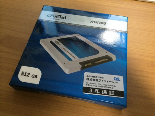 Crucial MX100 512GB 外箱