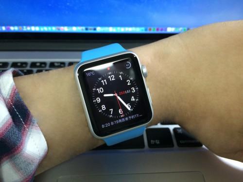 Apple Watch Sport ブルースポーツバンド
