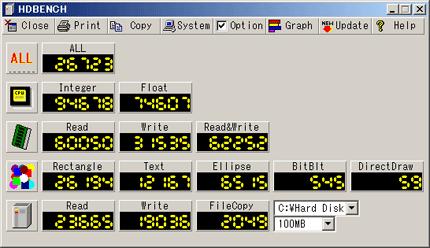 VAIO type B HDD交換前ベンチマーク