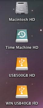 NTFS USB40GBハードディスクのアイコン