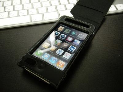 iPhone 3GSをケースに入れた時
